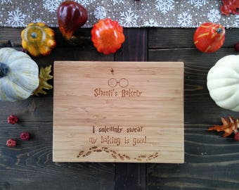 Customized Harry Potter Cutting Board, Marauder's Map, Baking,  BungalowBoo, Family, Baker, Cook, Chef