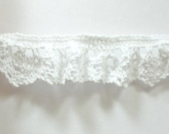 5 Meters Elastic Wavy White Cotton Lace , White Lace, Cotton Lace,Elastic, Vintage Lace, Suitable For Sewing 15mm