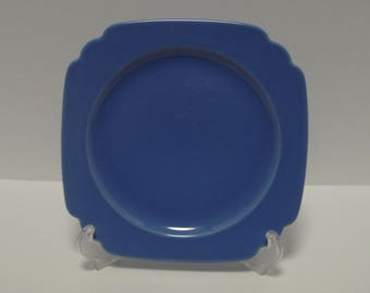 Homer Laughlin Riviera Mauve Blue 9 Inch Luncheon Plate, No Chips