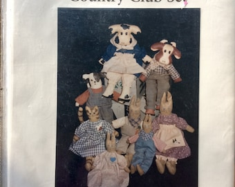 Vintage 1980 Simplicity 7311 Bear Family and Wardrobe Uncut Complete Original factory folds