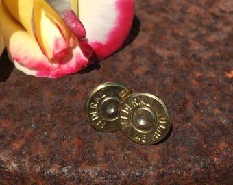 45 bullet stud earring