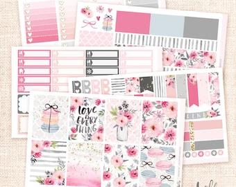 Romance -  Planner sticker kit / 6 sheets - for Erin Condren, Happy Planner