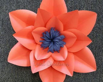 Hard copy paper flower template