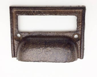 Cast Iron Cabinet Bin Holder Cup Pull