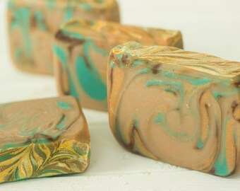 Three Kings Handcrafted Artisan Soap scented with Frankincense & Myrrh ~ Gift fit for a King | Luxury Goat Milk Soap