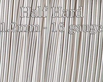 10FT(3mt), Silver filled wire Half Hard round 1.2mm 16 gauge - fine silver filled tarnish resistant - 15%Discount price bulk quantity wire