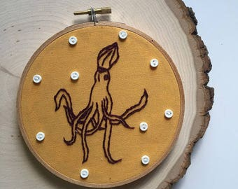 Squid Embroidery