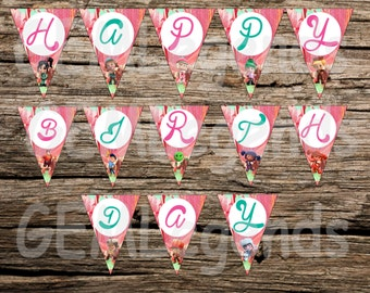 Sugar Rush Birthday Banner, Sugar Rush Banner, Sugar Rush Birthday Party, Wreck It Ralph Birthday, Wreck It Ralph Party, INSTANT DOWNLOAD