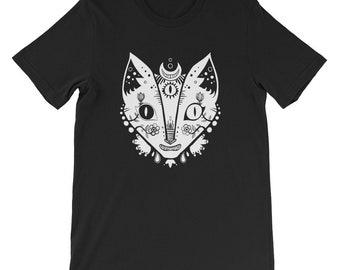 Cat Shirt, Third Eye Unisex Tshirt, Cat Lover Gift, Witchy Clothing, Original Art T-Shirt