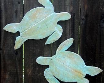 Sea Turtles, Sea Turtle Art, Green Turtle, Hawaiian Sea Turtle, Wooden Sea Turtles, Wood Turtles, Coastal Living Room, Nursery Turtle Decor