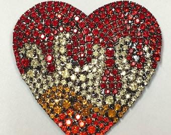 Flaming Heart Pin