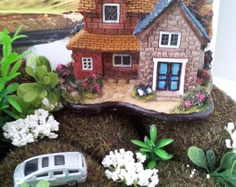 resin house  for your  diorama , terrarium  or layout scene craft project