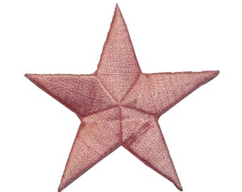 ID 3433 Pink Star Patch Symbol Space Night Sky Embroidered Iron On Applique
