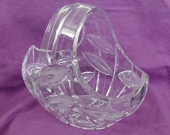 Vintage Cut Glass Basket