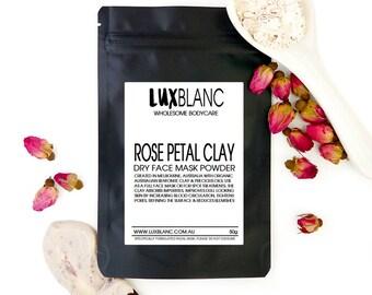 Rose Petal Clay Dry Face Mask | 100% Australian Made