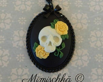 necklace cameo skull