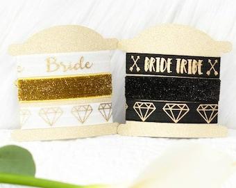 Bachelorette party favor - diamond bride tribe - hair tie sets for bachelorette