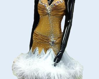 Dance  Latin  Gold   Dress        Dance  Latin  Dresses