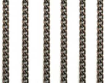 Vintaj 2mm Delicate Curb Chain 2ft CH100