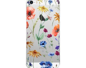 Iphone 6 Case Clear With Design, Iphone 7 Case Clear, Iphone 7 Case Floral, Iphone 5s Case Floral, Iphone Case Clear, Iphone SE Case Clear