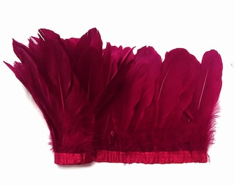 Goose Trim, 1 Yard - Burgundy Goose Nagoire And Satinettes Feather Trim : 4260