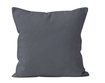 Storm Gray Pillow Cover, Dark Gray Pillow Cover, Dark Neutral Pillow Cover, Gray Pillow Case, Gray Throw Pillow Cover Minimalist 18x18 _M