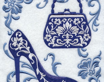 FILIGREE FASHION SQUARE - Machine Embroidered Quilt Block (AzEB)