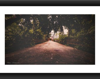 A Fine Art Print of an Abandoned Bridge in Texas, Bridge, Abandoned, Photo