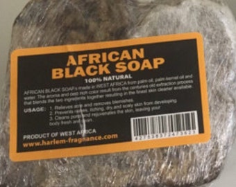 1LB) 100% Natural Raw African Black Soap, Organic, Unrefined from GHANA west Africa