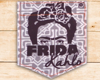 Frida Kahlo Eyes Sticky Sticky Pocket Patches - Patch for Tshirts
