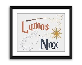 PDF - Lumos/Nox Harry Potter Cross Stitch Pattern