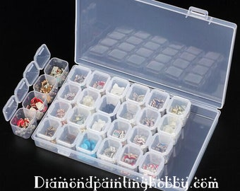 28 slots Plastic Storage Box, container, organizer, diamond painting, 3d painting, great hobby for kids and adults, diy kits, Free shipping!