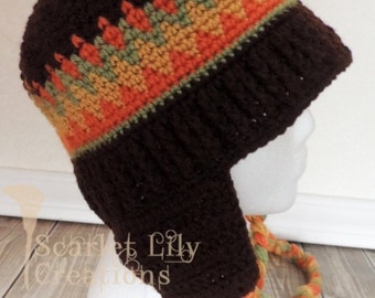 Old School Beanie, Classic Crochet Hat - Adult size only