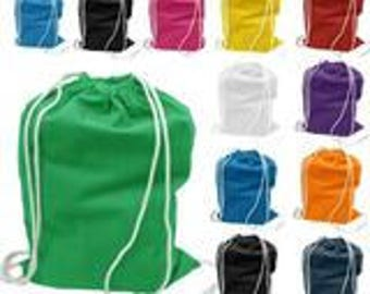 Personalized Cotton Drawstring Bags