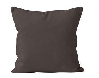 Espresso Brown Pillow Cover, Chocolate Brown Pillow Cover, Solid Brown Dark Brown Pillow Cover, Solid Neutral Pillows Covers _M