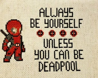 Deadpool Cross Stitch