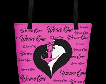 We are One Pink Beach Bag