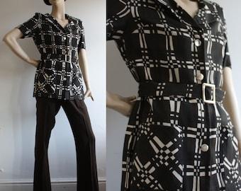 RARE Vintage 1970s RODETTE Safari Pant/Trouser Suit