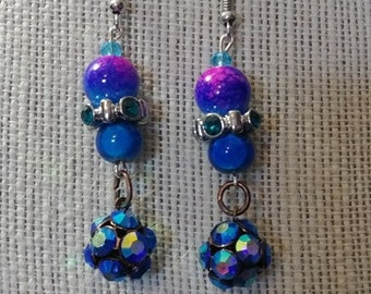 Blue Hook Earrings