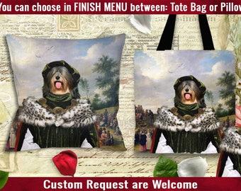 Tibetan Terrier Pillow or Tote Bag/Tibetan Terrier Art/Tibetan Terrier Portrait/Dog Tote Bag/Dog Pillow/Dog Art/Custom Dog Portrait