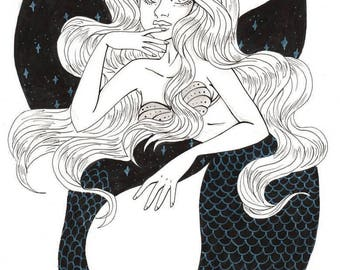 Sea witch -inktober 2017-