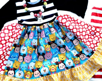 Disney Tsum Tsum Momi boutique custom dress