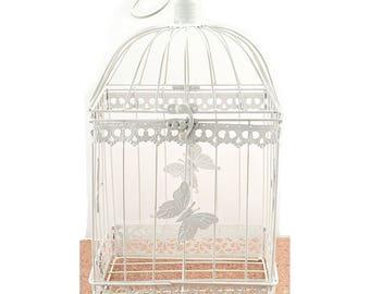 Wishing Well Bird Cage Wedding White Birdcage Cards Box Reception Decorations Supplies