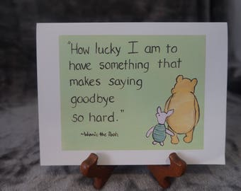 Miss you card goodbye friendship card winnie the pooh card love card moving goodbye going away classic pooh card miss you card winnie the pooh love you card saying goodbye thinking of you m4hsunfo