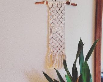 Macrame cotton rope wall hanging