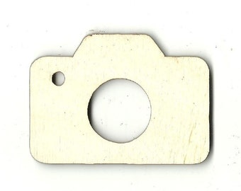Camera - Unfinished Wood Laser Cut Out Shape Craft Supply MVE10