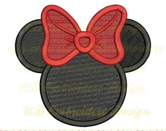 Minnie Maus gefüllt Kreuzstich Stickmuster, Bogen Maschinenstickerei, ms-083-Füllung
