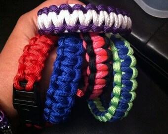 Paracord Bracelets - PICK YOUR COLOR