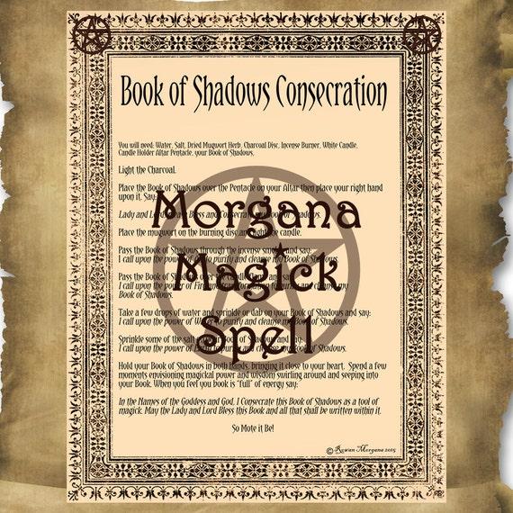Book of Shadows Consecration