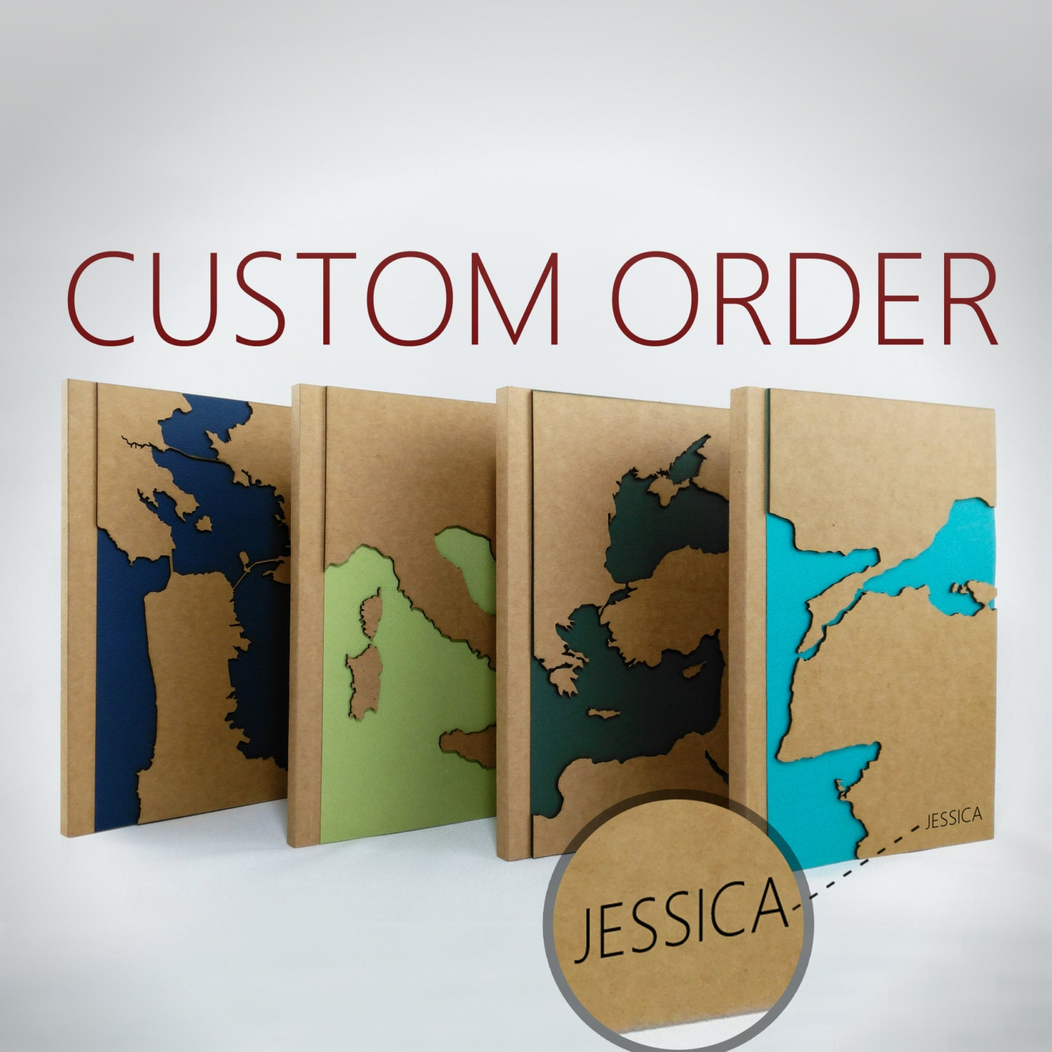 Custom map travel notebook personalized gift maps unique zoom gumiabroncs Choice Image
